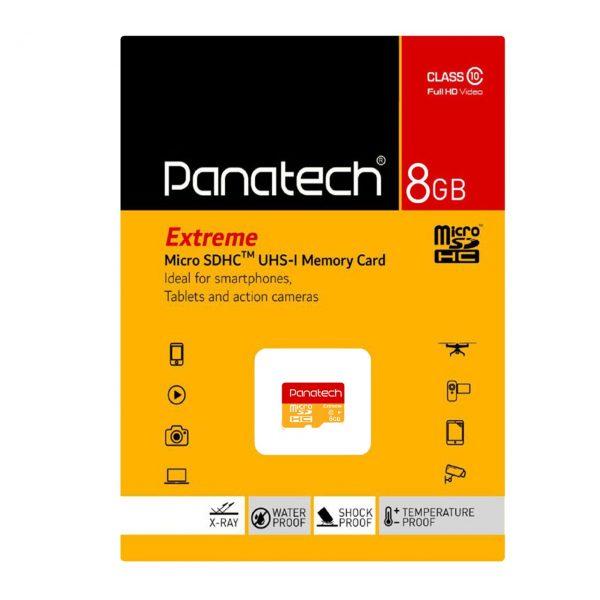 کارت حافظه پاناتک مدل Micro SDHC Extreme ظرفیت ۸ گیگابایت