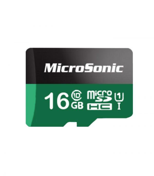 کارت حافظه میکروسونیک مدل Micro SDHC U1 ظرفیت ۱۶ گیگابایت
